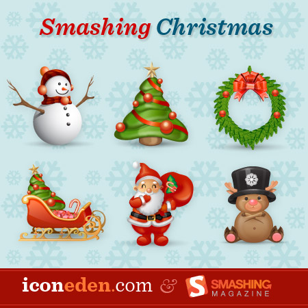 "Набор иконок ""smashing рождество"""