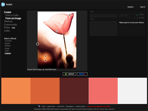 для создания цветовых схем