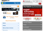 Amazon and Macy's home pages
